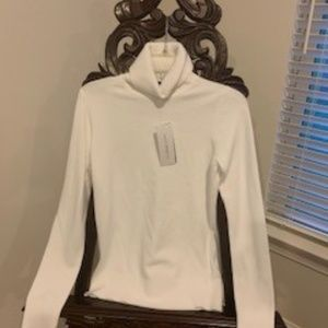 French Connection white turtleneck sweater